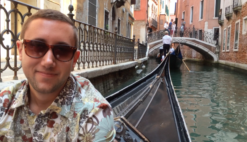 Being serenaded in Venice